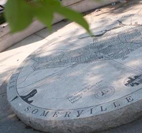 Map in granite