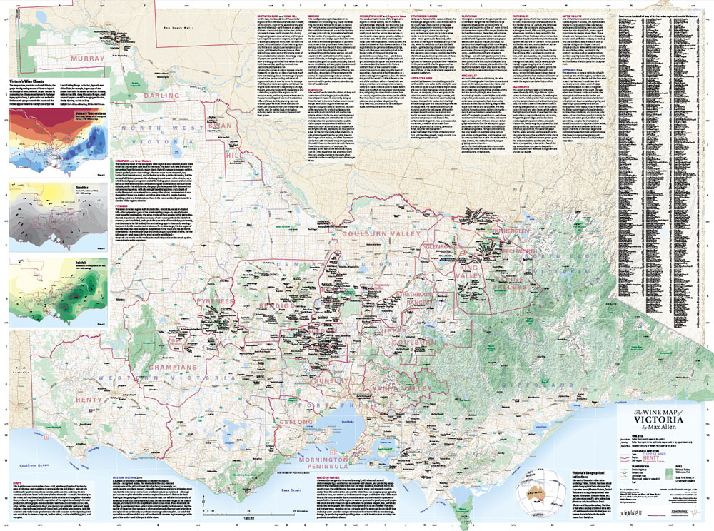 The Wine Map of Victoria by Max Allen vW Maps
