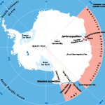 Map of Antarctica of Mawson