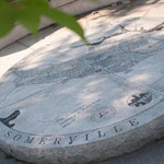 Map of Somerville in granite
