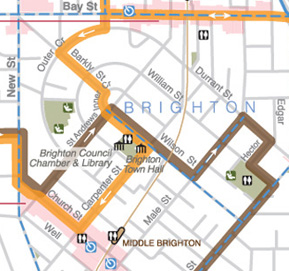 Bayside Cycling trail map