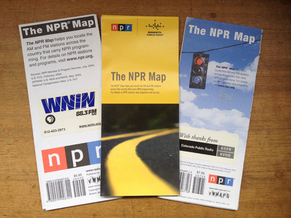 Three covers for The NPR Map.