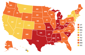 Adult Obesity Rate by State, 2011