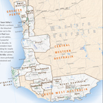 Wine Map of Western Australia