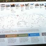 Coastal Trail map in Bayside