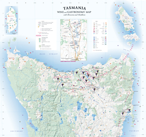 Tasmania Wine & Gastronomy Map